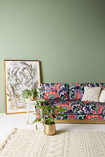 Liberty for Anthropologie Feather Bloom Cardiff Sofa