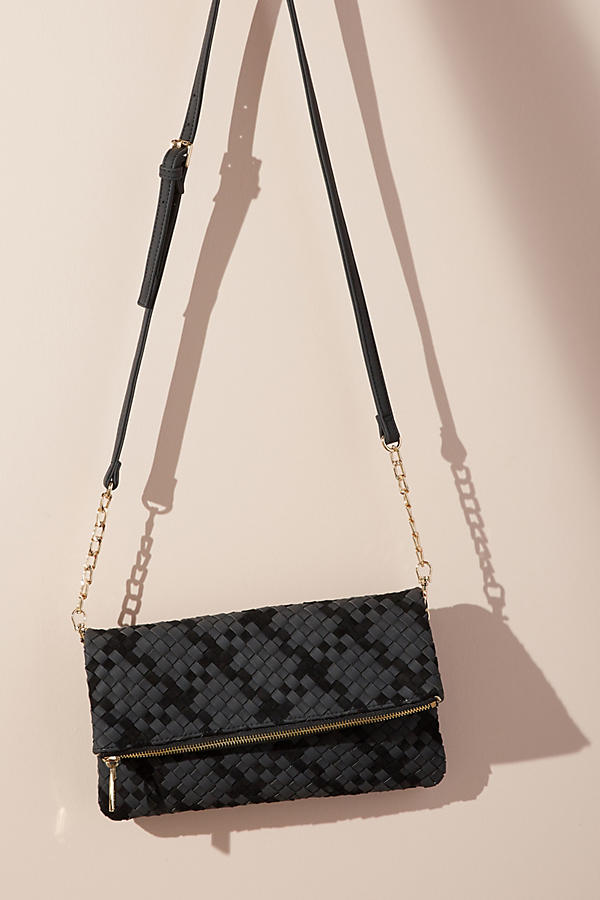Woven Delaney Foldover Bag