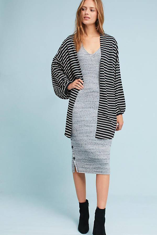 Striped Jersey Cocoon Kimono