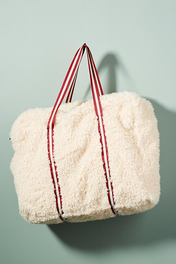 Oversized Shearling Tote Bag