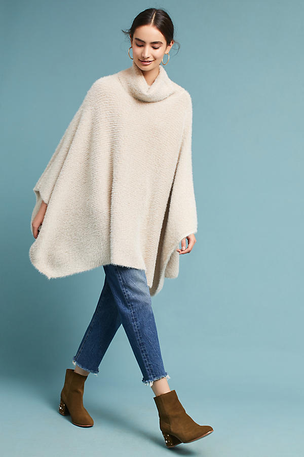 Cozy Metallic Poncho