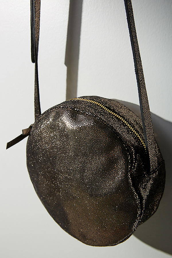 Shimmer Round Crossbody Bag