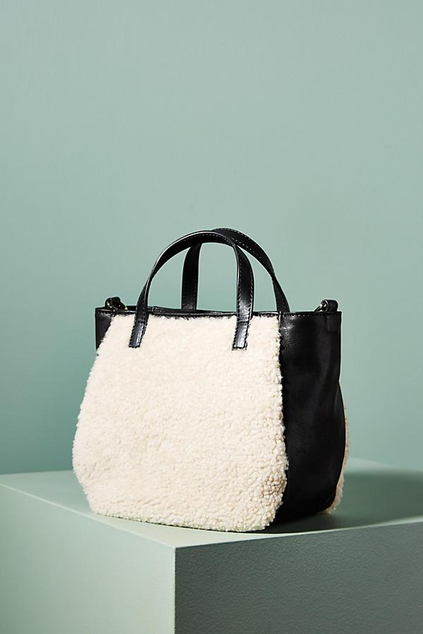 Pertegaz Shearling Tote Bag