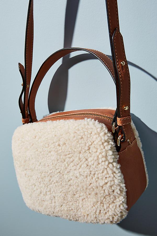 Pertegaz Shearling Crossbody Bag