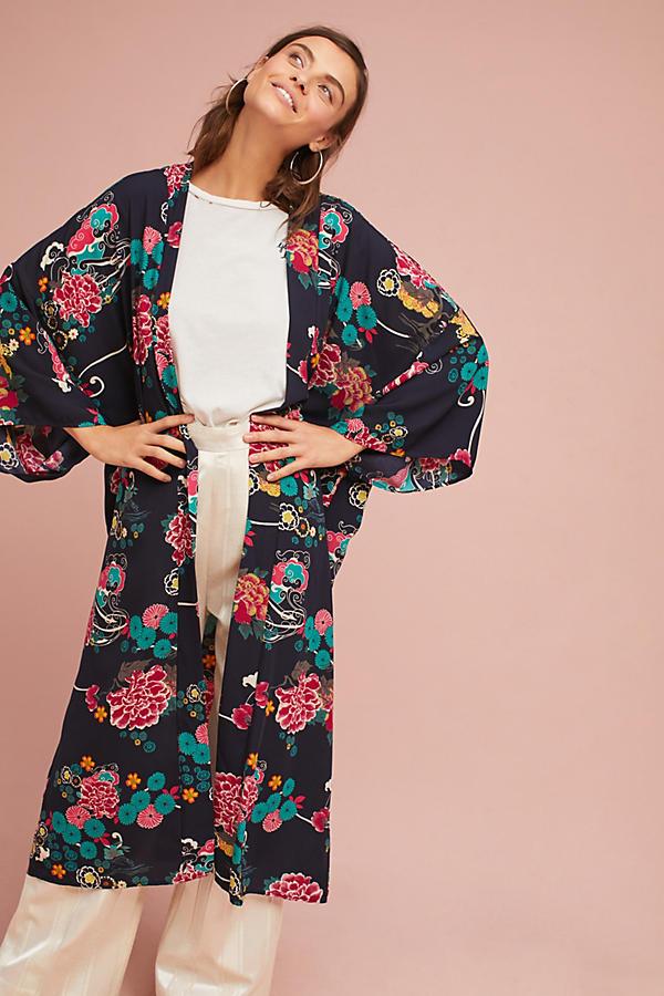 Regency Floral Long Kimono