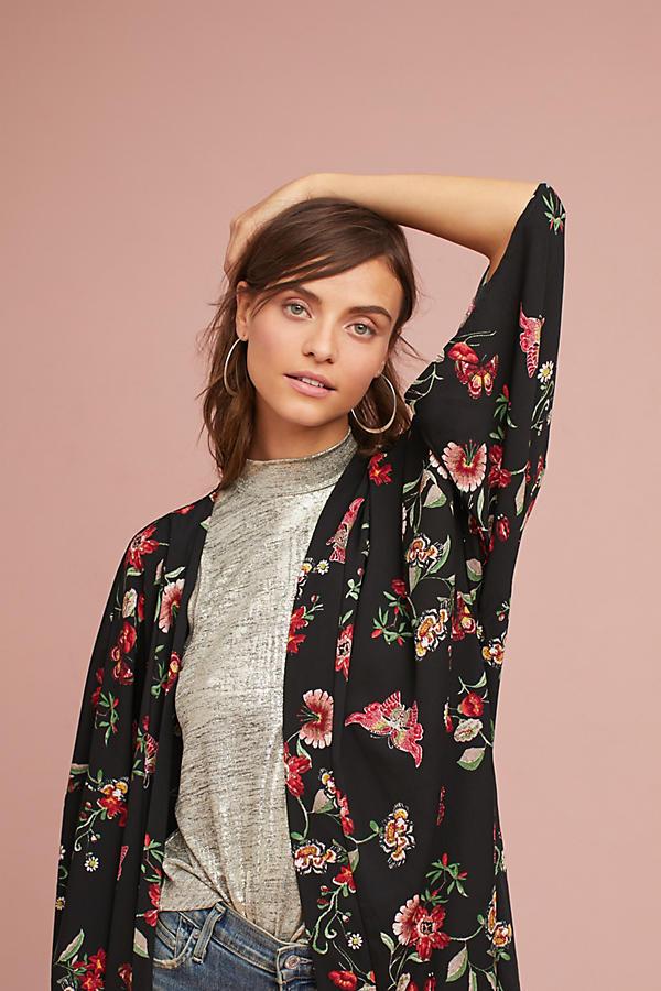 Mod Floral Long Kimono