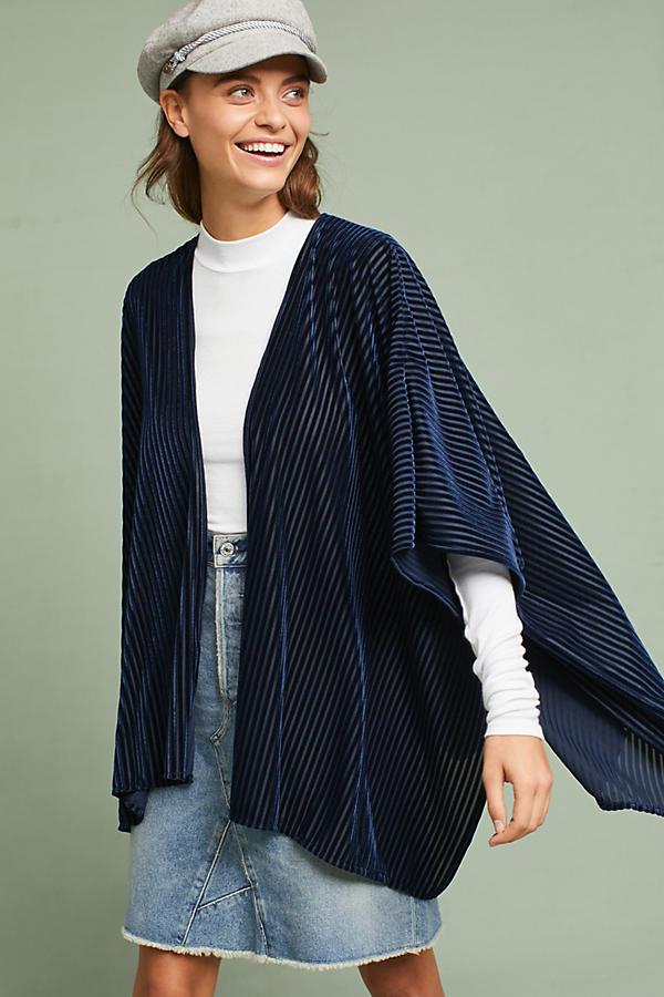 Pinstriped Velvet Kimono