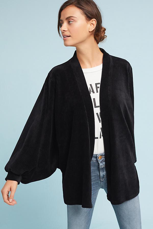 Velvet Dolman-Sleeve Kimono