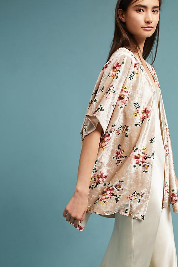 Newbury Floral Velvet Kimono