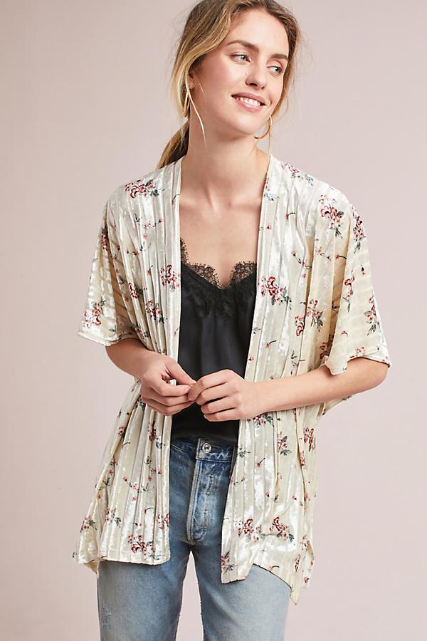 Barrington Floral Velvet Kimono