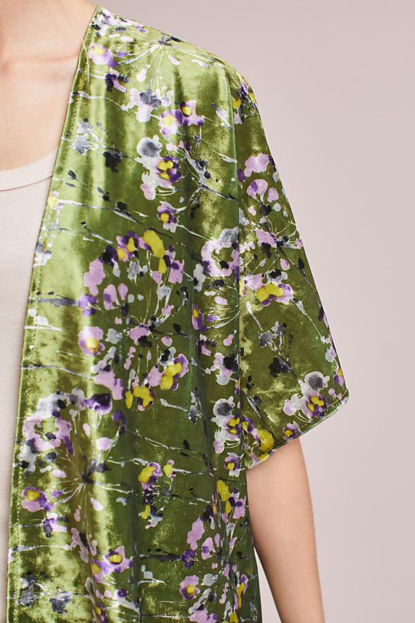 Callaway Floral Velvet Kimono