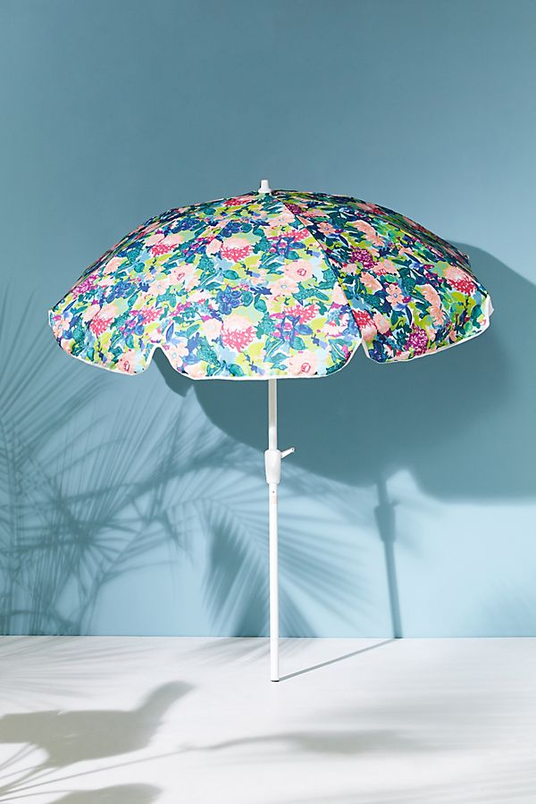 Slide View: 1: Gables Floral Outdoor Umbrella