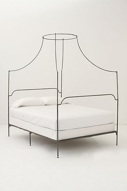 Italian Campaign Canopy Bed - Anthropologie.com from anthropologie.com