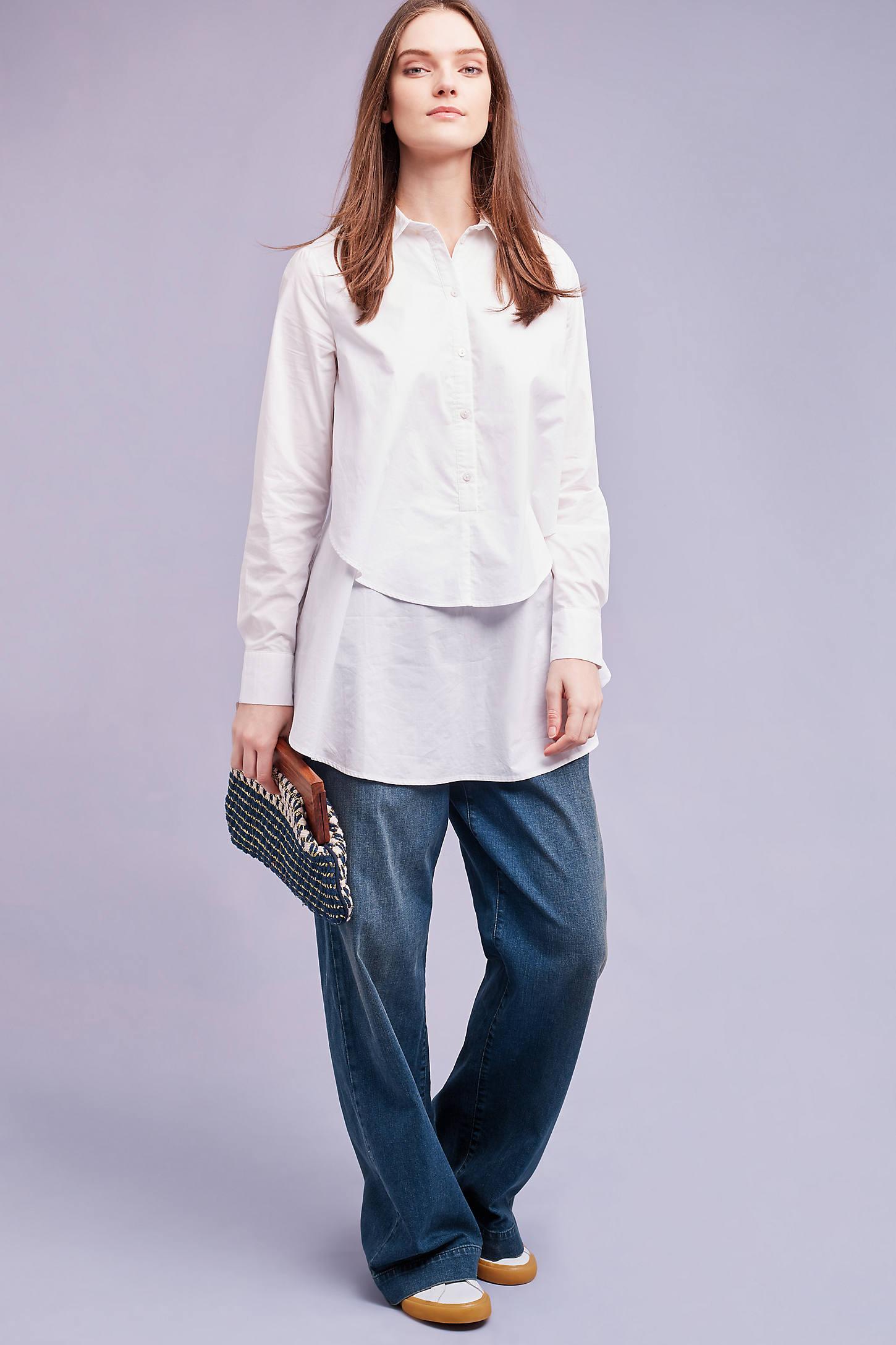 Ira Layered Shirt, White