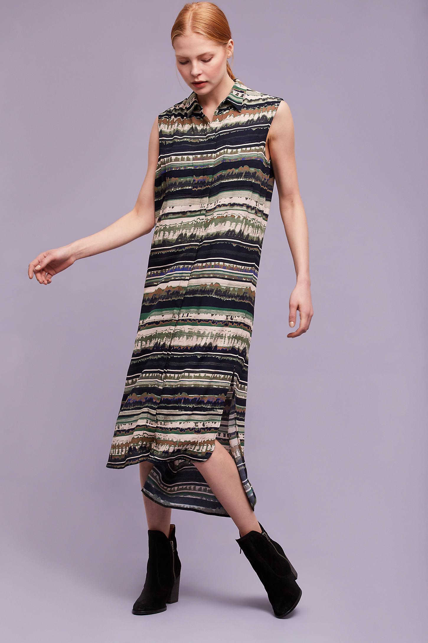 Vittoria Striped Midi Dress
