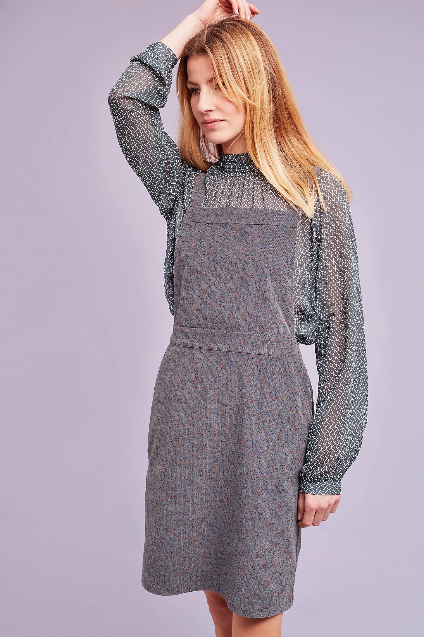 Aubrey Corduroy Pinafore Dress, Grey