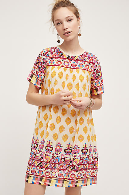 Caltha Swing Dress, Yellow