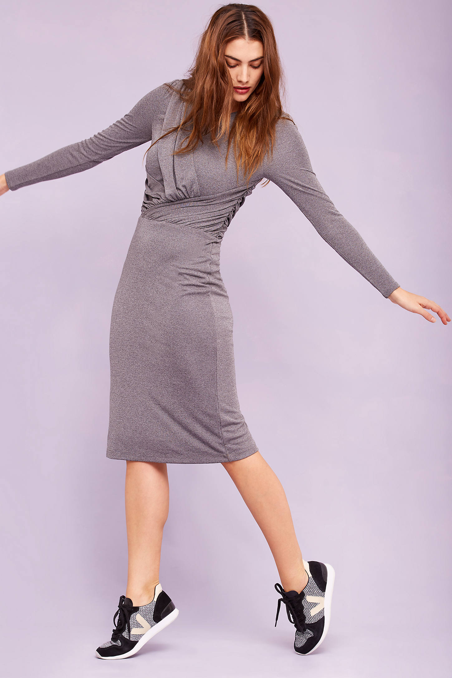 Carla Bodycon Dress, Grey