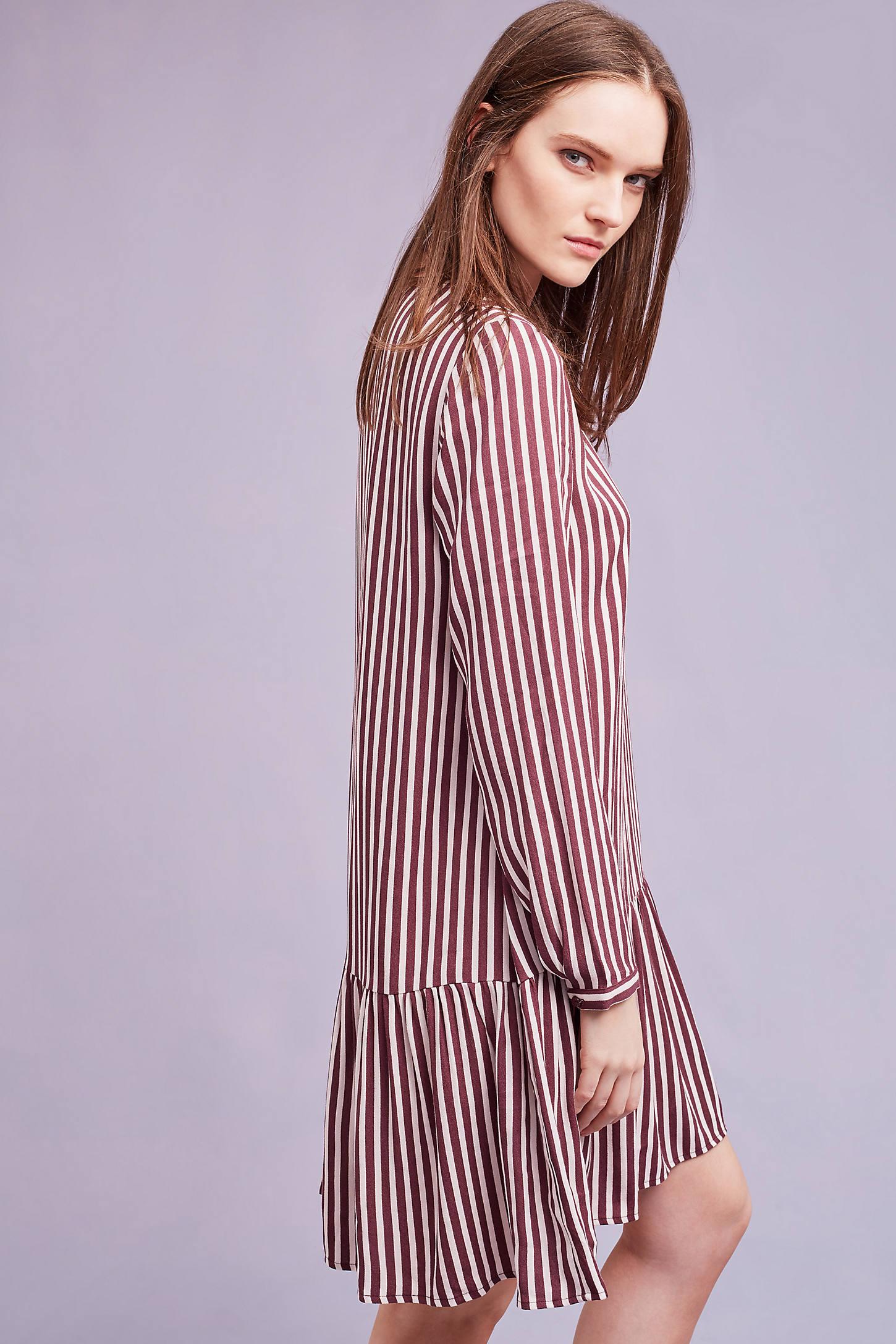Jemima Striped Dress, Red