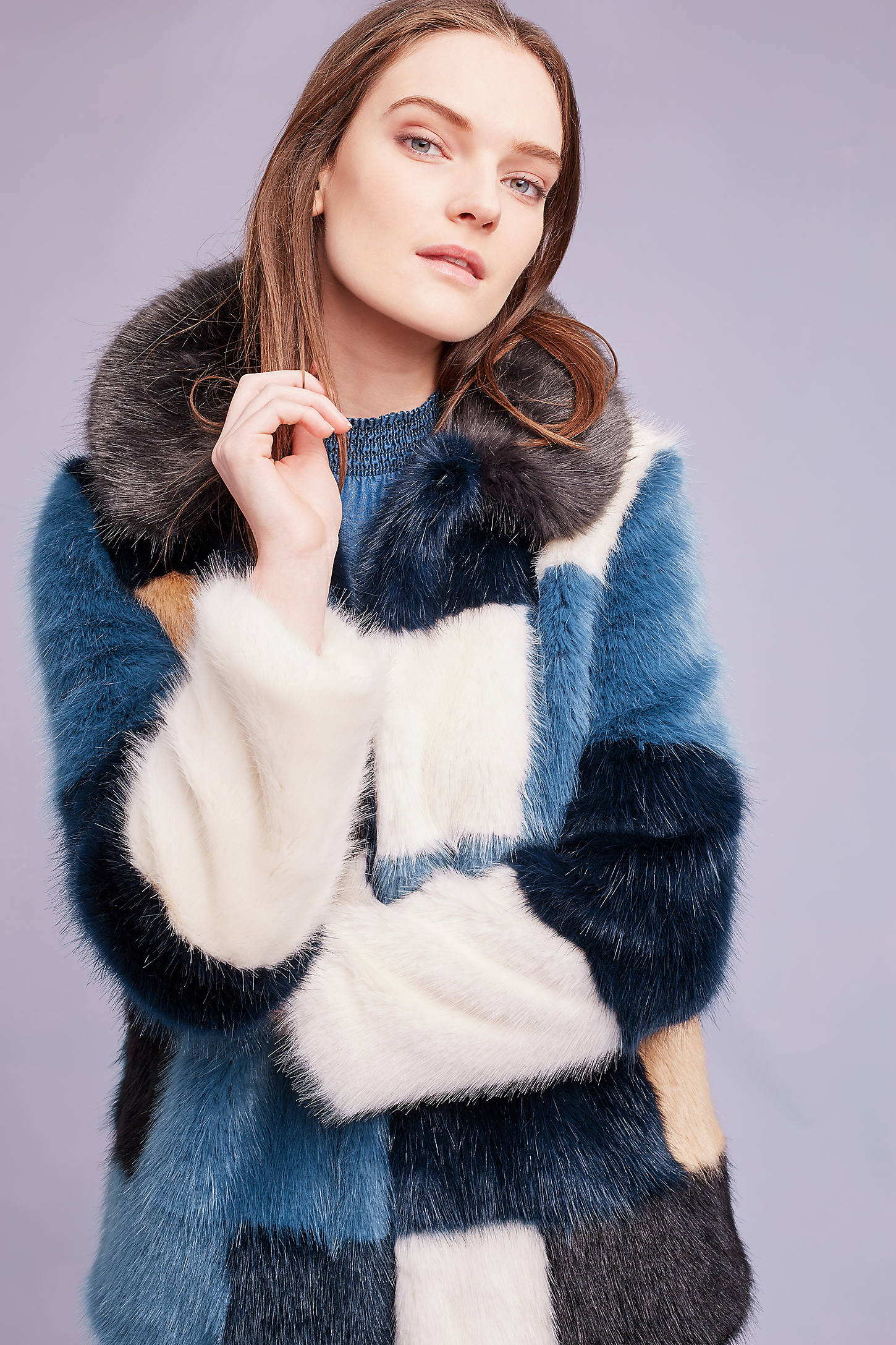 Pallenberg Faux Fur Coat, Blue