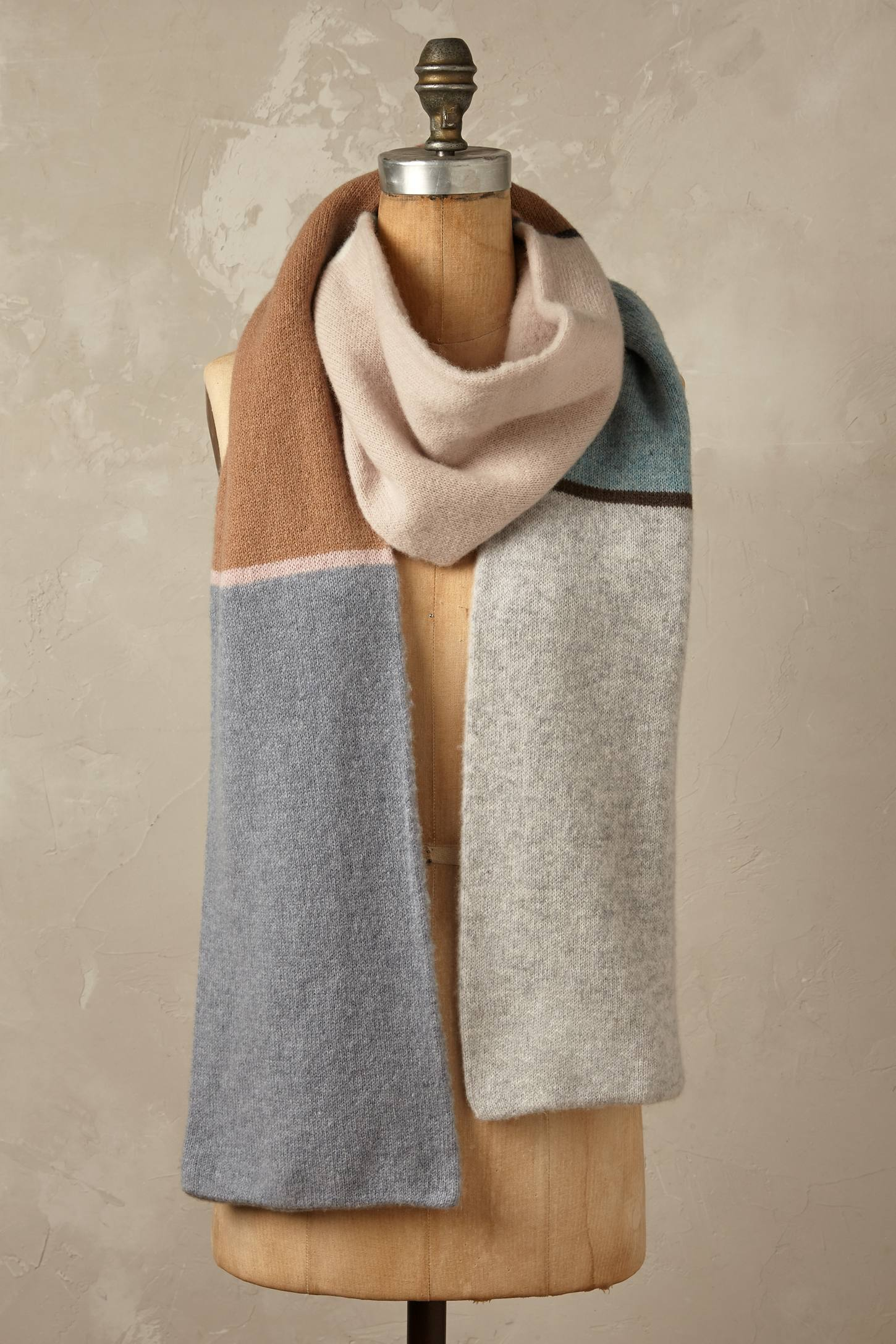 Glacier Colour Block Wool Scarf