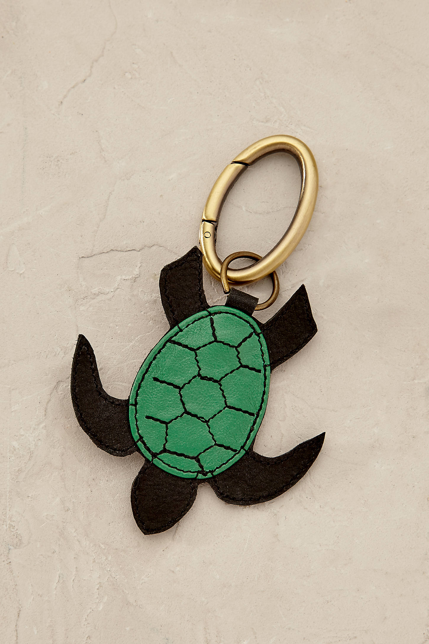 Tropical Turtle Keychain