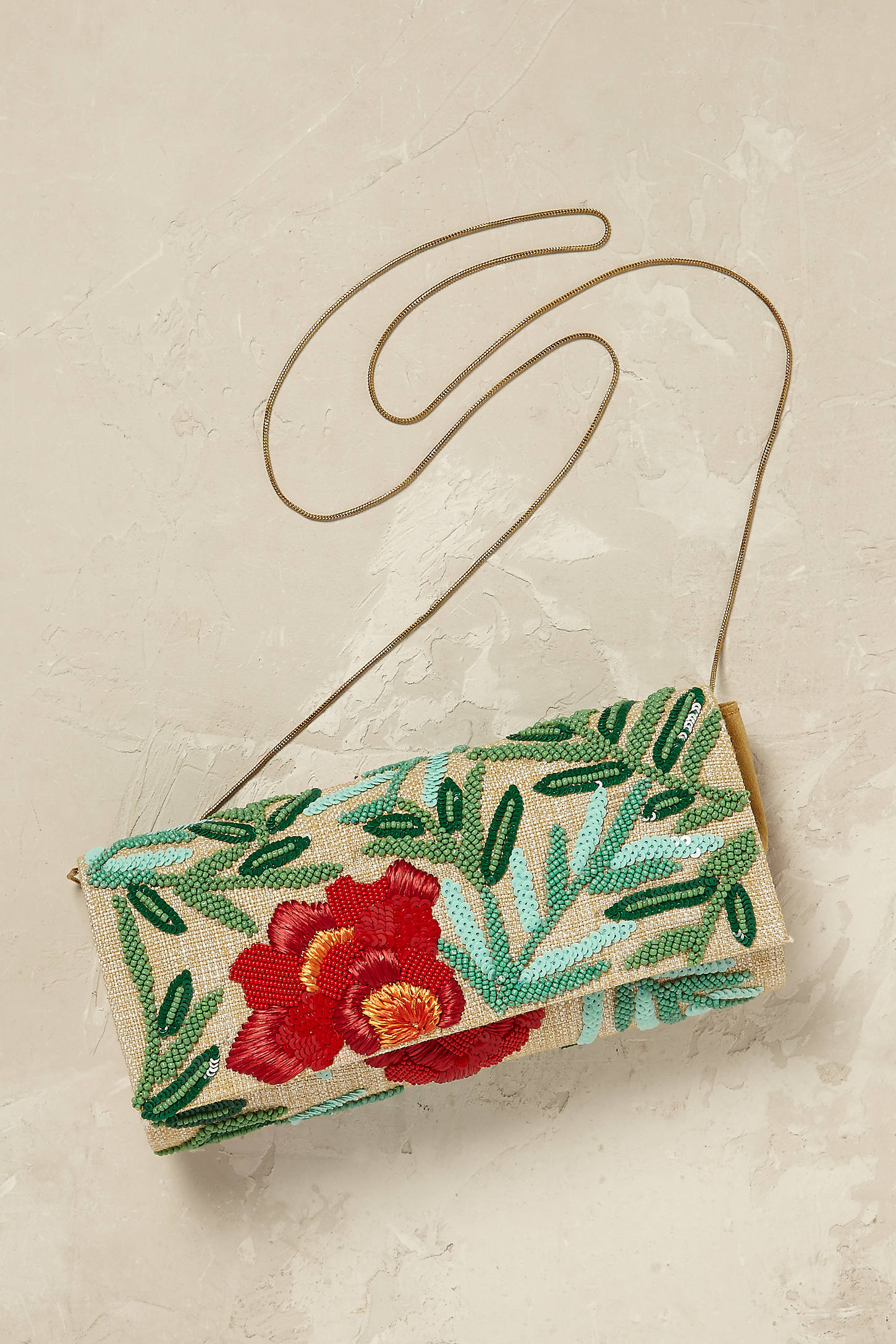 Isola Beaded Floral Clutch