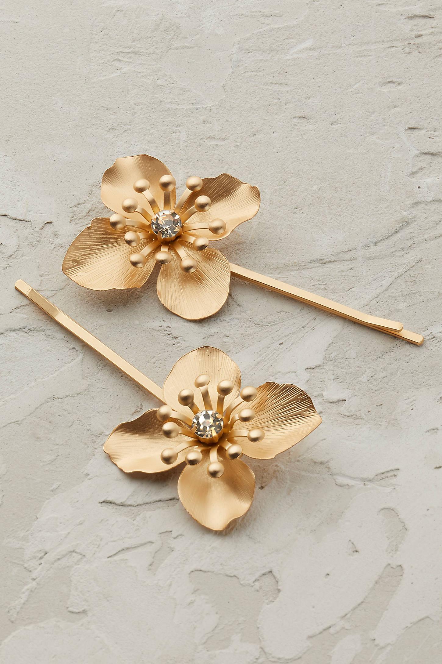 Gilded Petals Bobby Pins