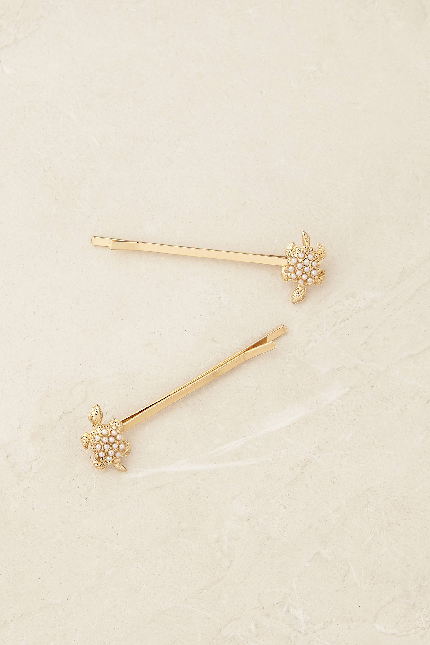 Golden Turtle Bobby Pins