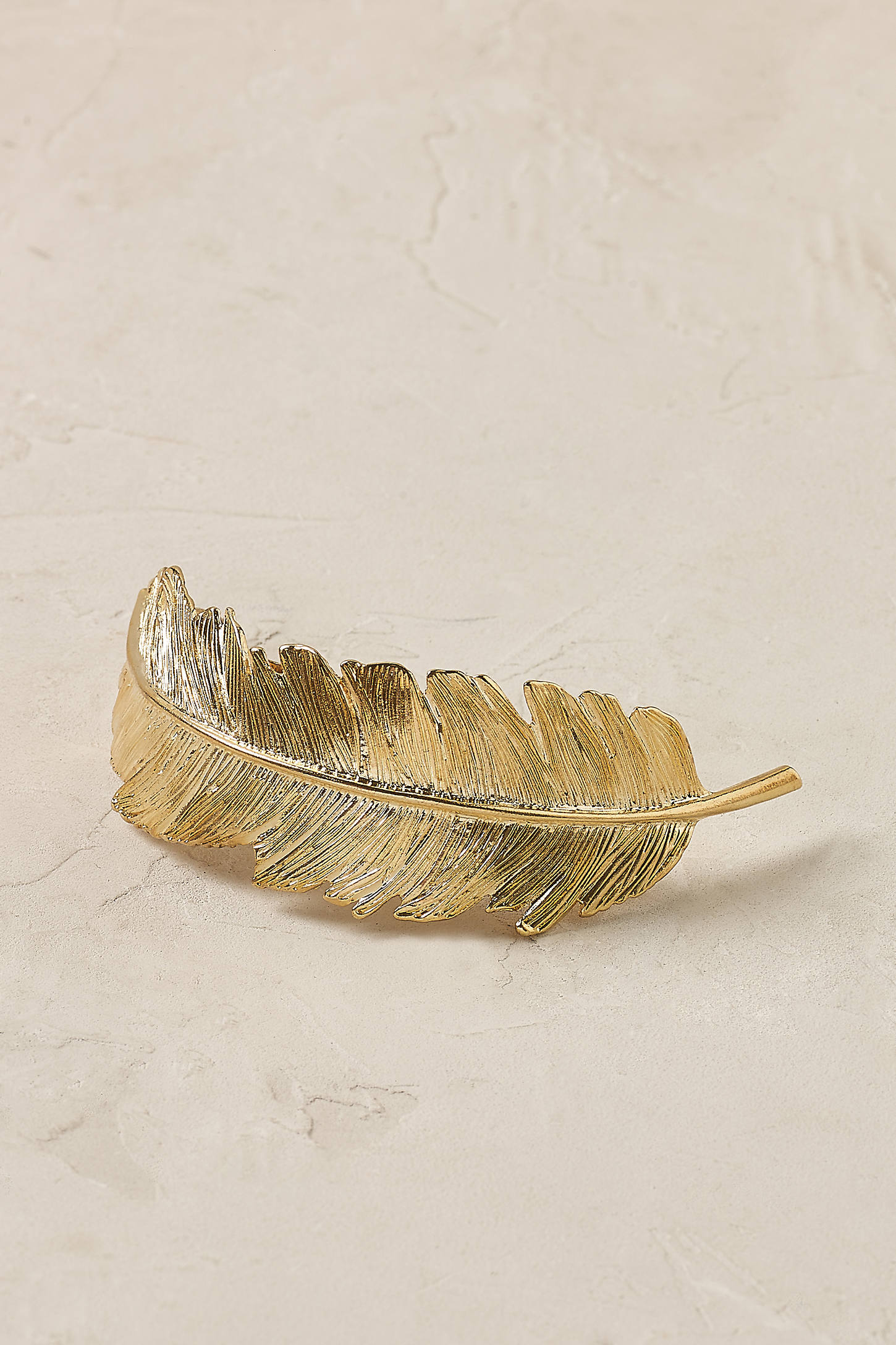 Gilded Feather Barrette