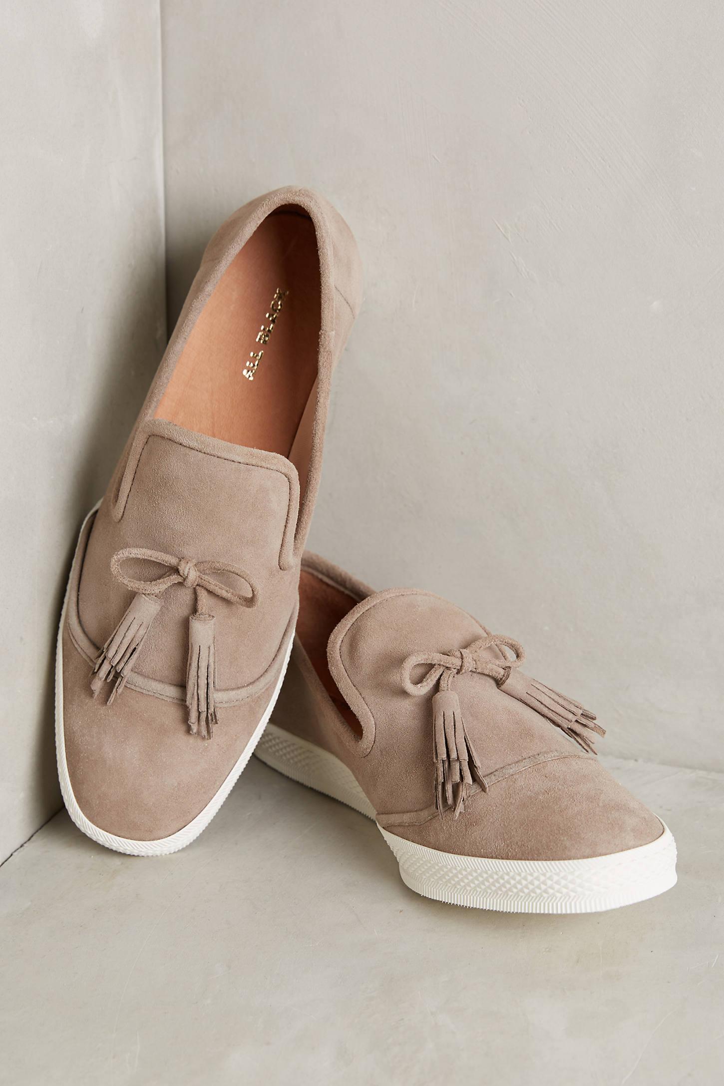Quinn Tasselled Suede Sneakers