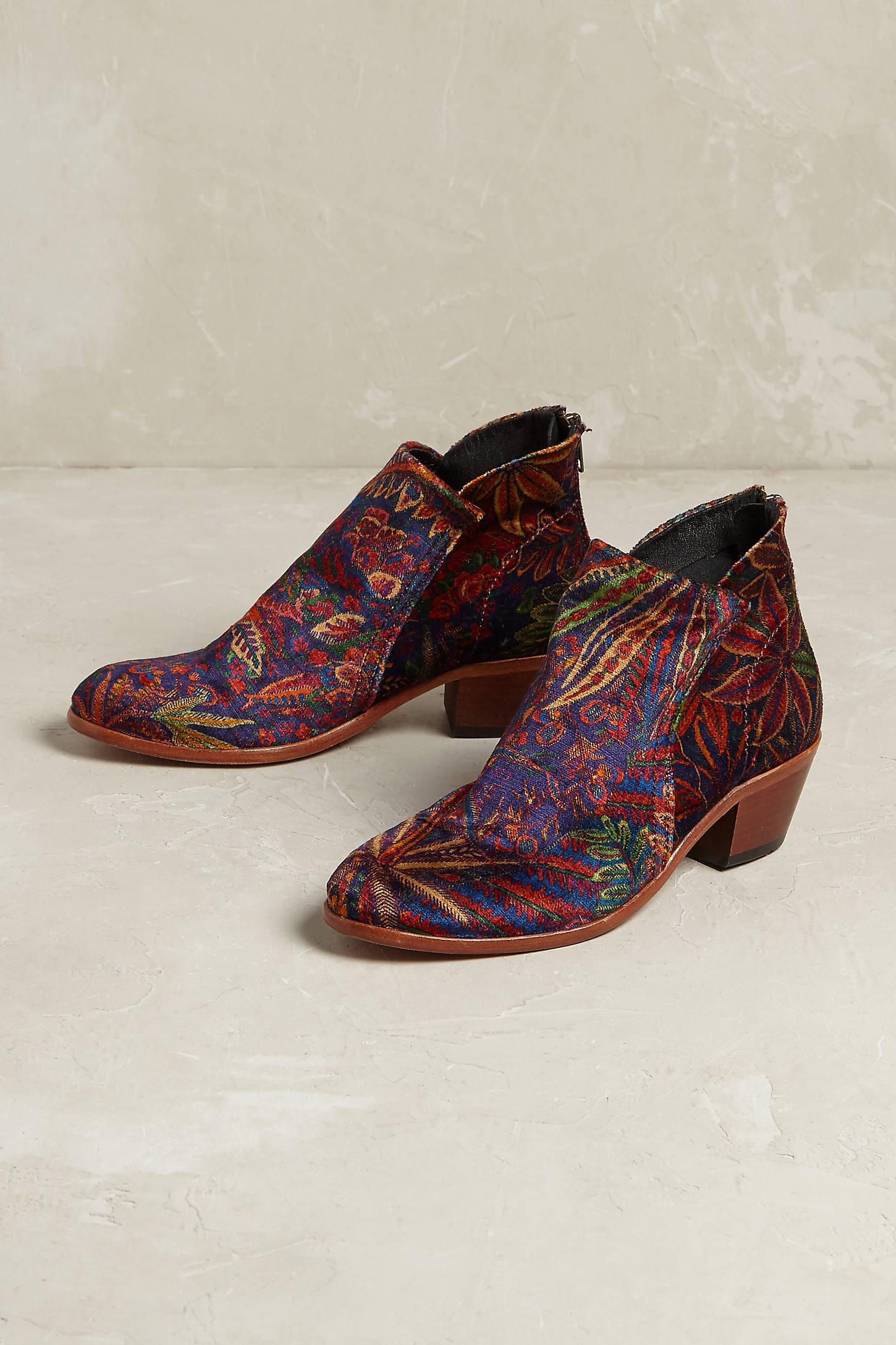Apisi Velvet Ankle Boots