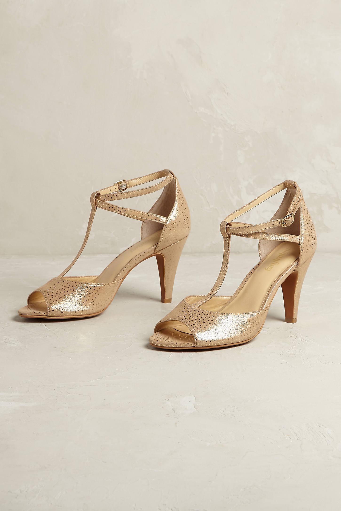 Aurelia Gold T-Bar Heels