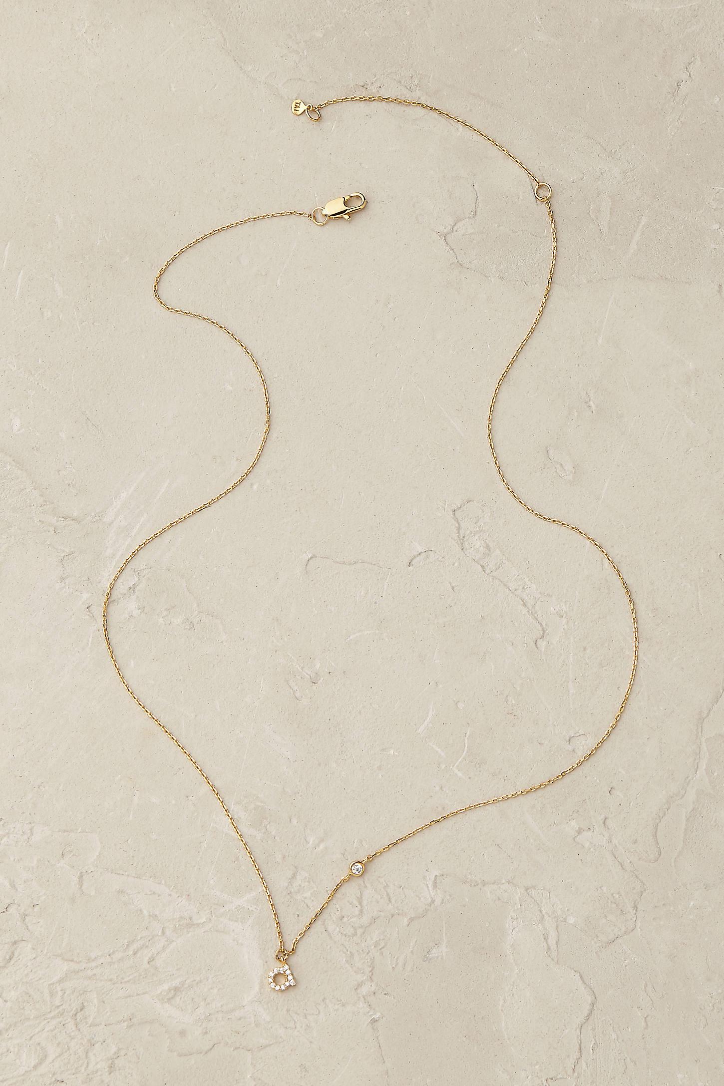 Shimmered Monogram Necklace