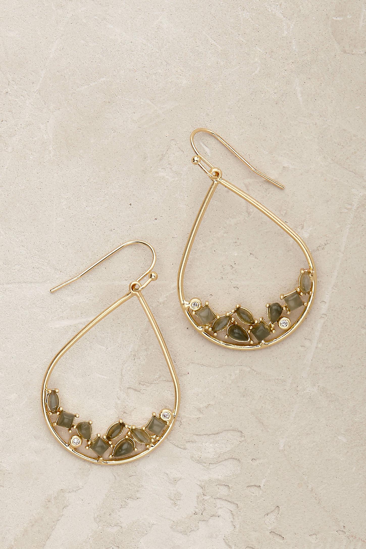 Paloma Teardrop Hoop Earrings