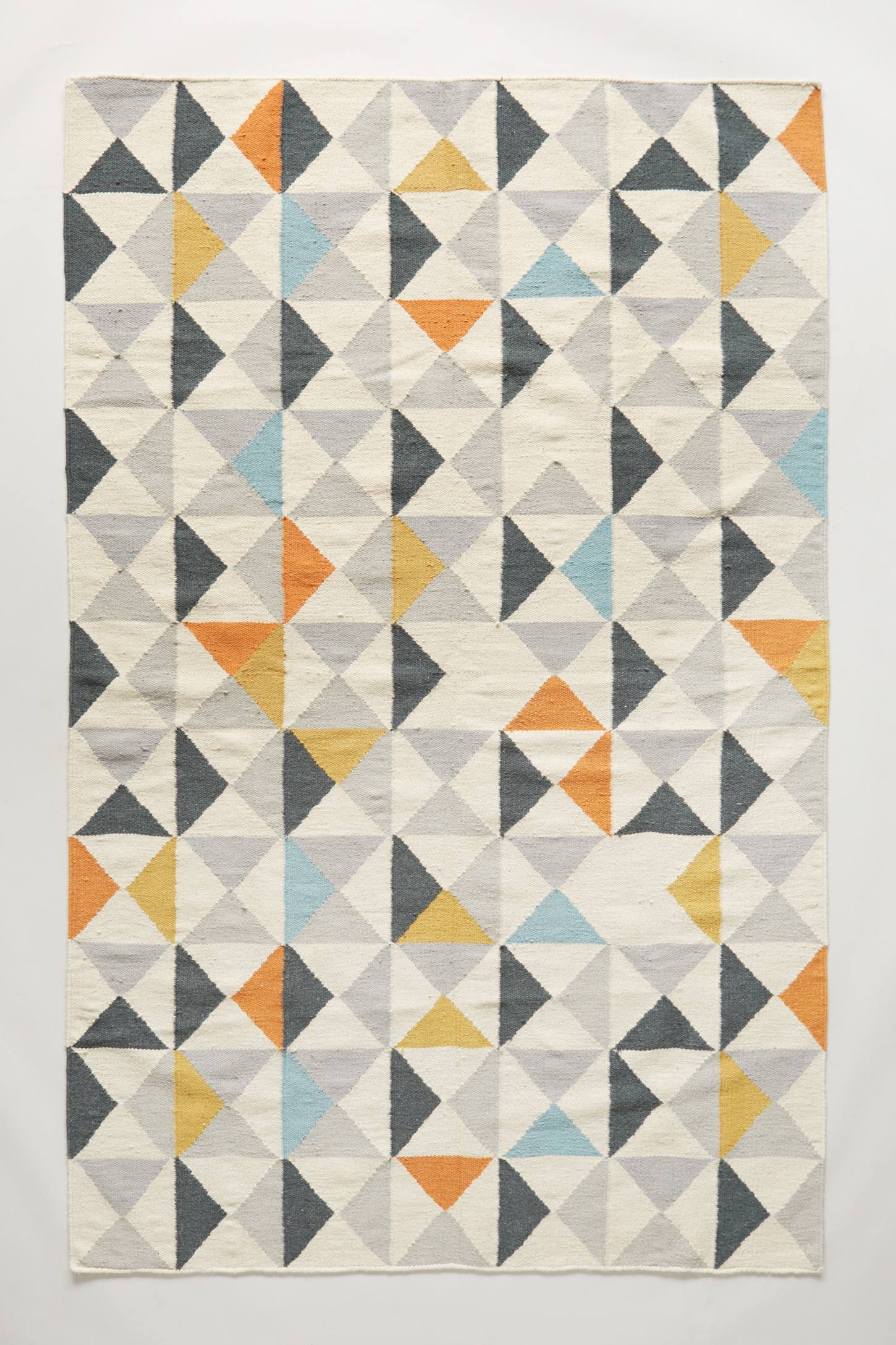 Perfect Symmetry Flat-Woven Rug