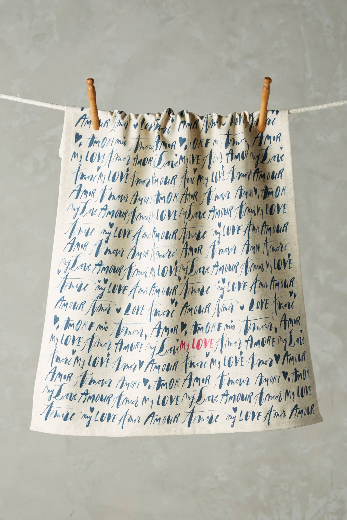 Language Of Love Tea Towel