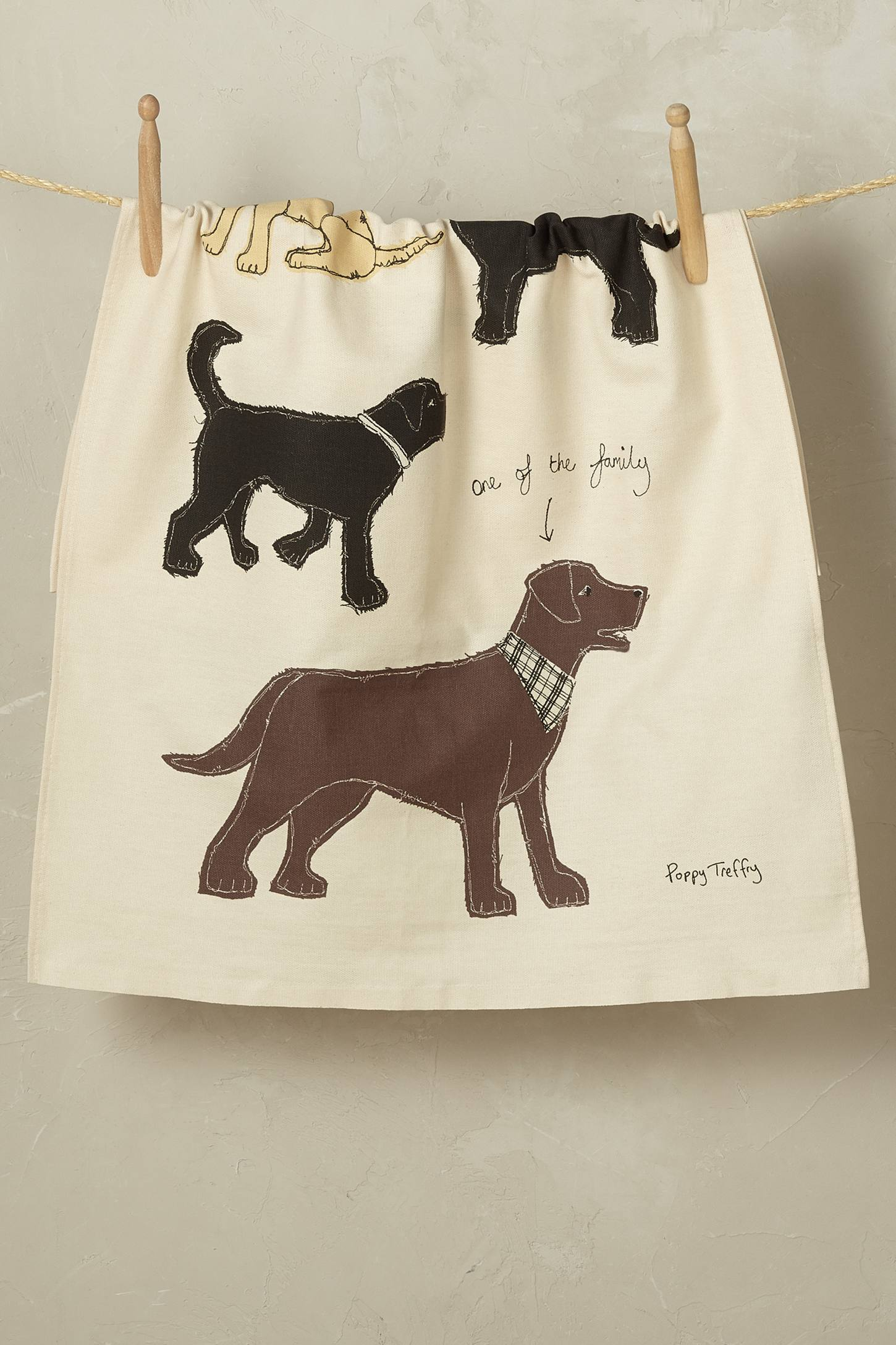 Muddy Paws Tea Towel