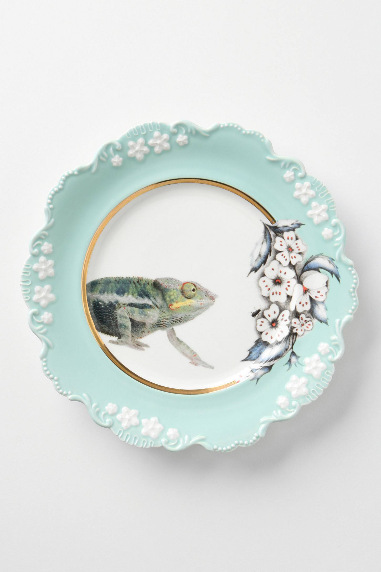 Natural World Dessert Plate, Chameleon
