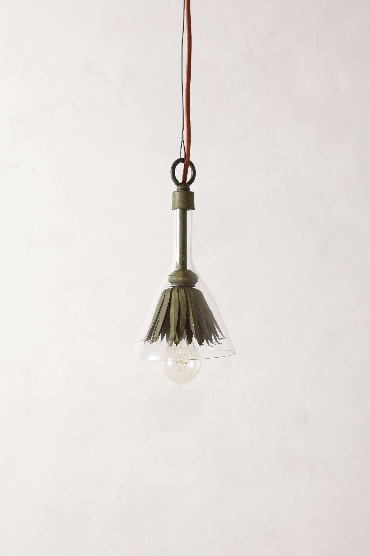 Iron Petals Small Pendant Light