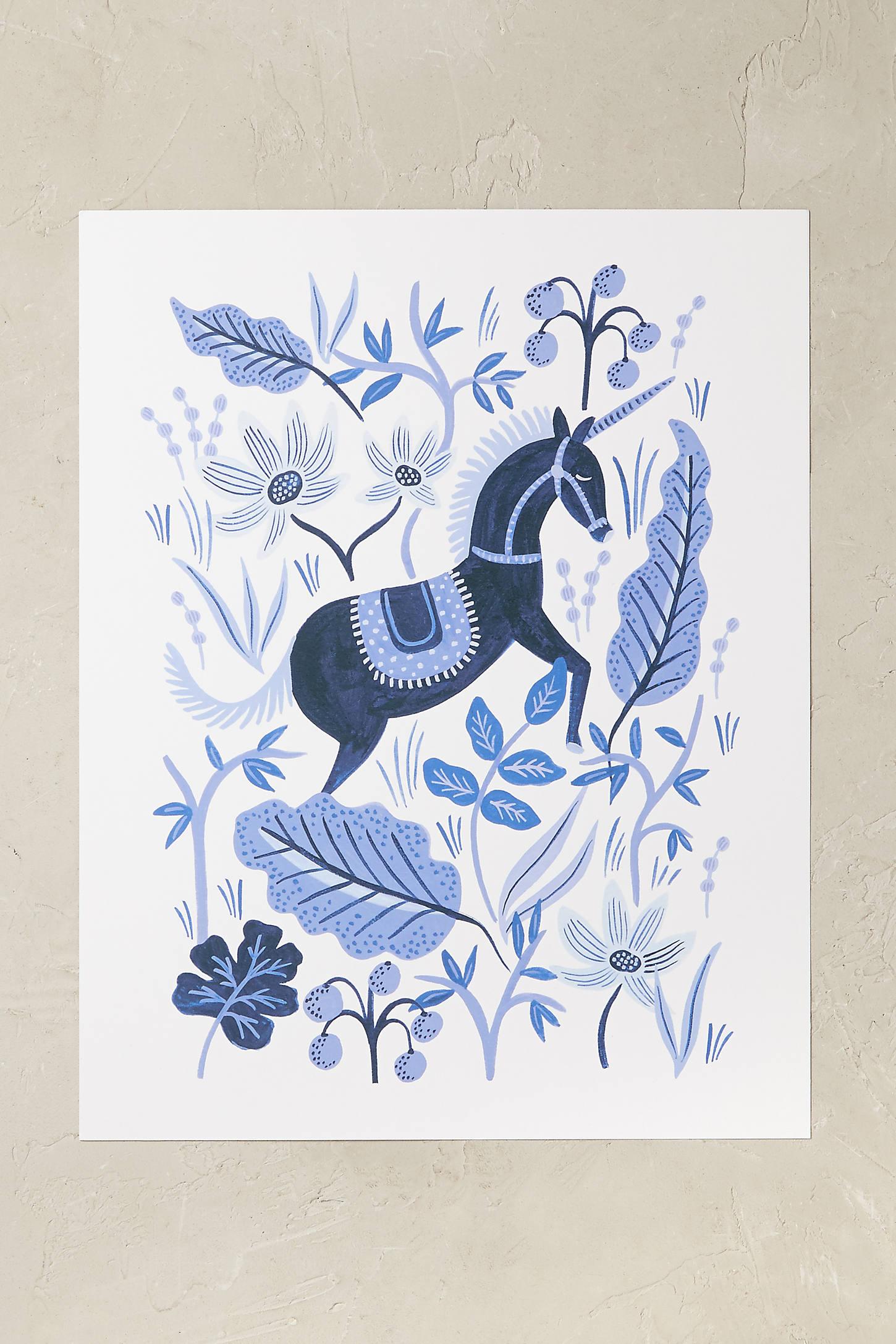 Sapphire Folklore Wall Art