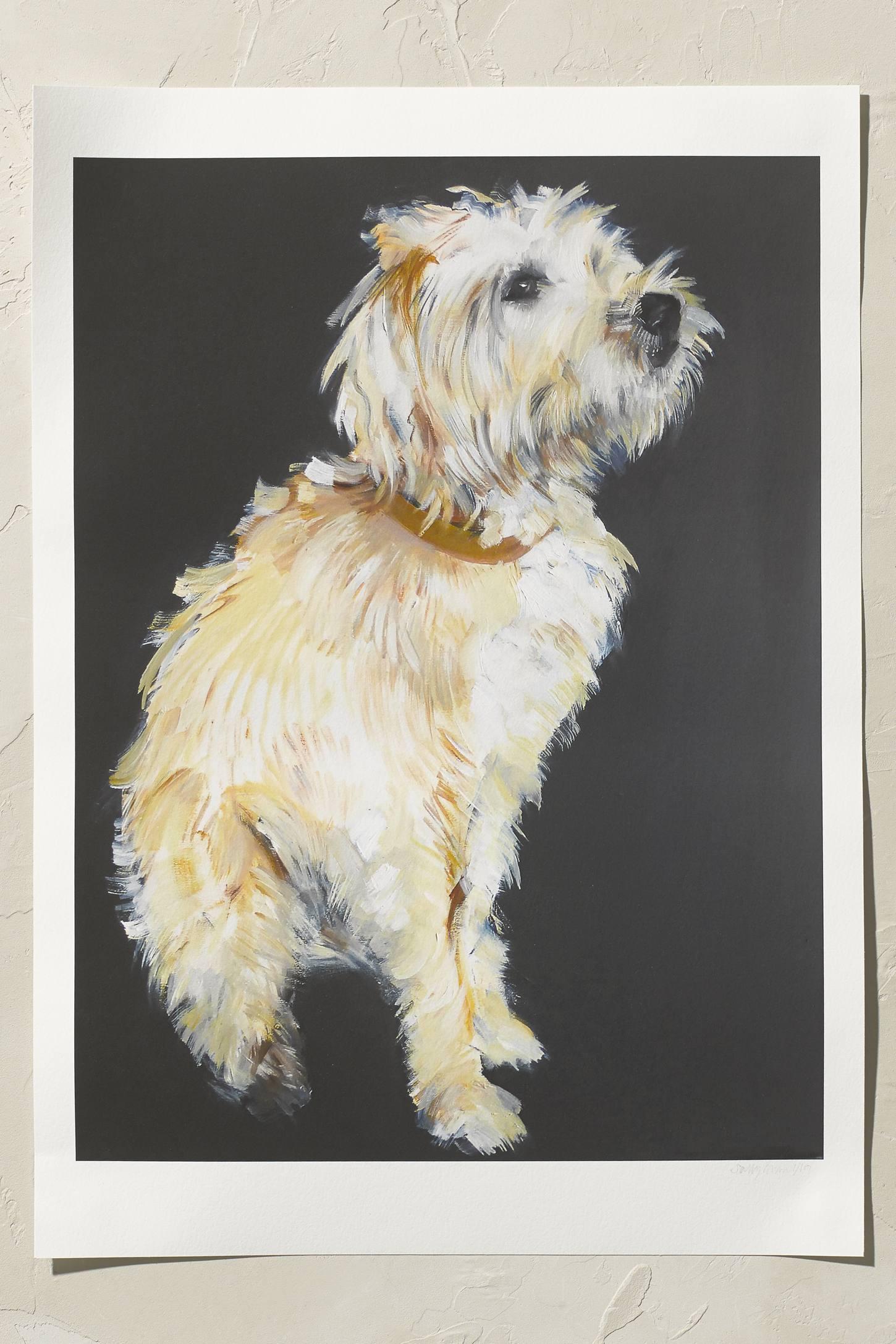 Sally Muir Wheaten Terrier Wall Art