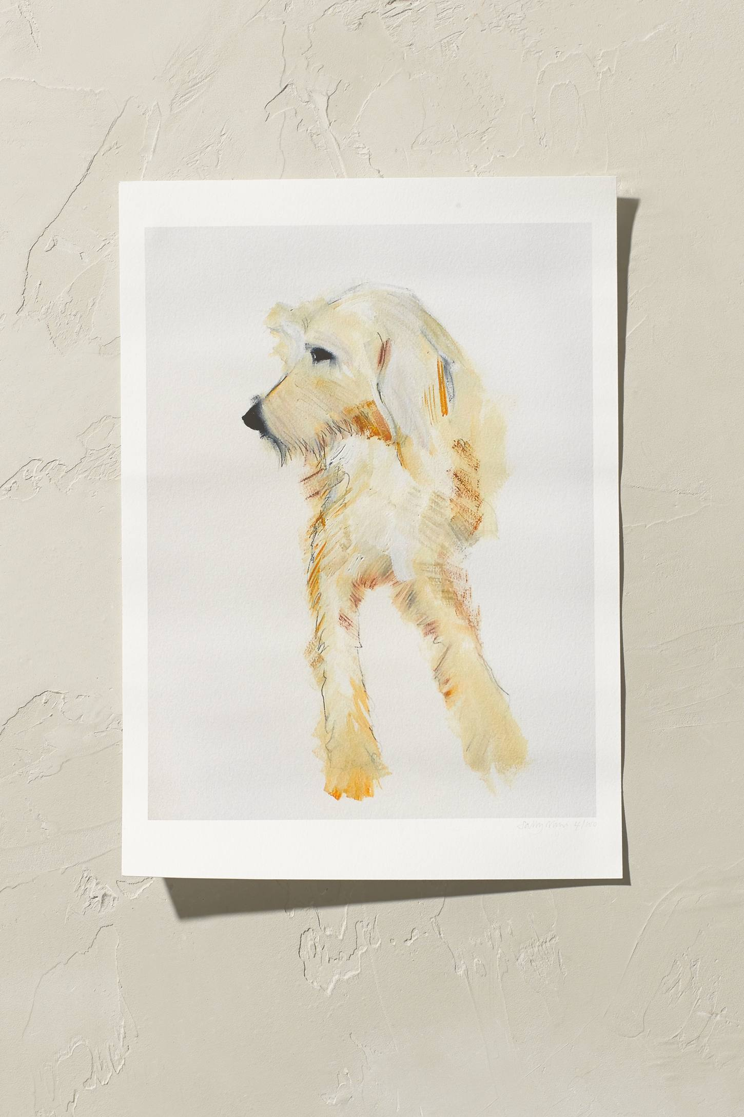 Sally Muir Golden Lurcher Wall Art