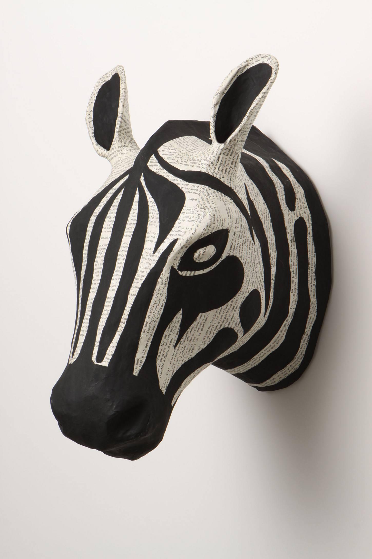 Savannah Story Bust, Zebra