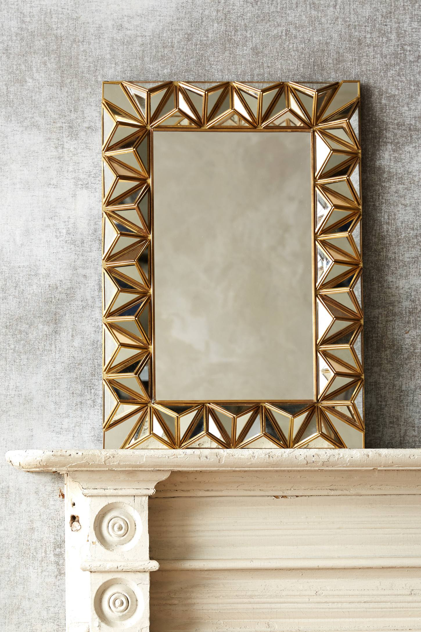 Studded Pyramid Mirror