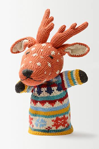 Knitted Reindeer Puppet