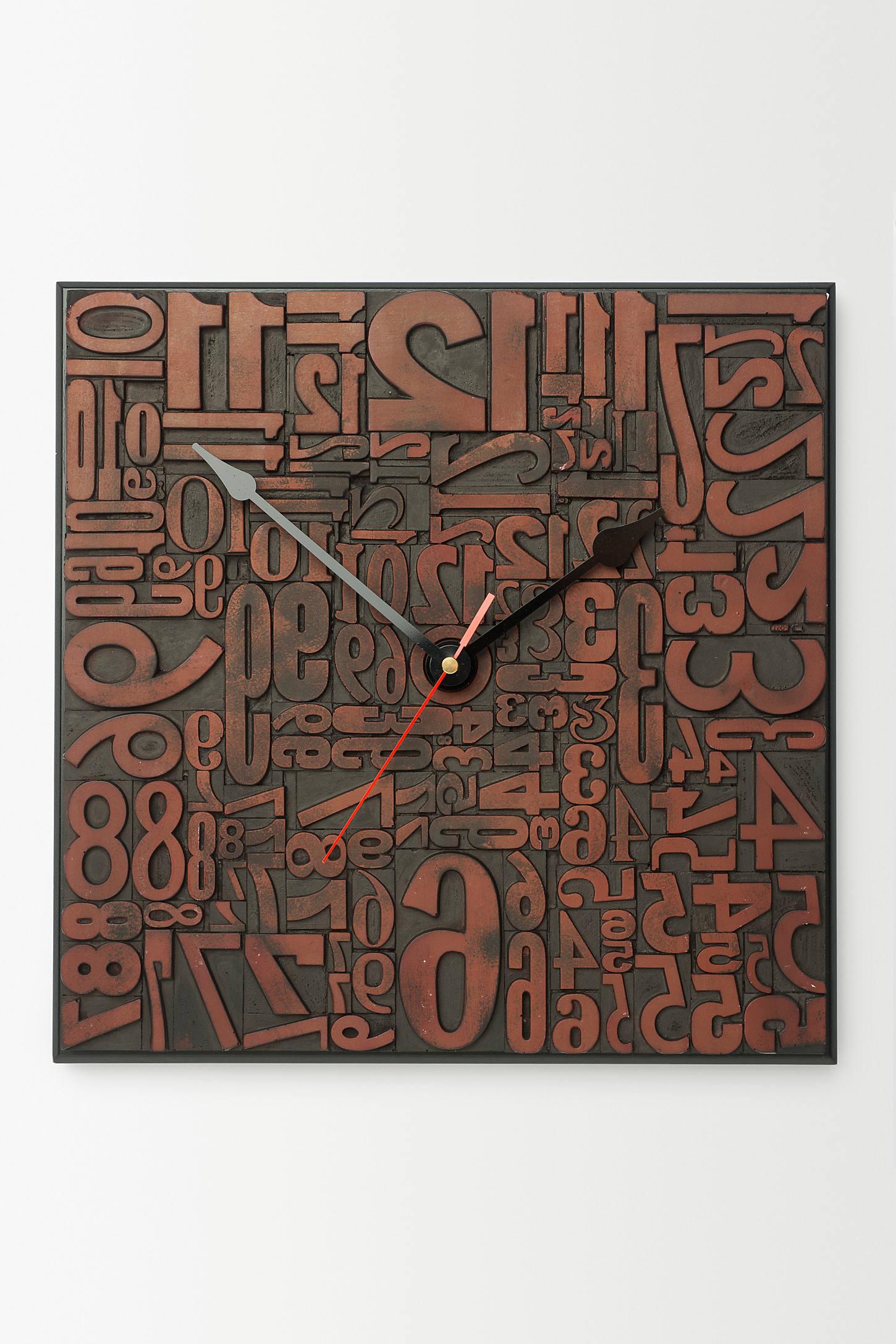 Fontform Clock