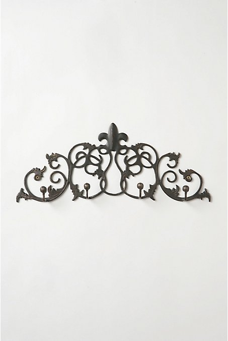 Fleur-De-Lys Hook Rack - Anthropologie.com