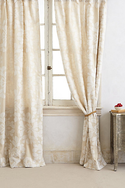 Sale alerts for Anthropologie Coqo Floral Curtain - Covvet
