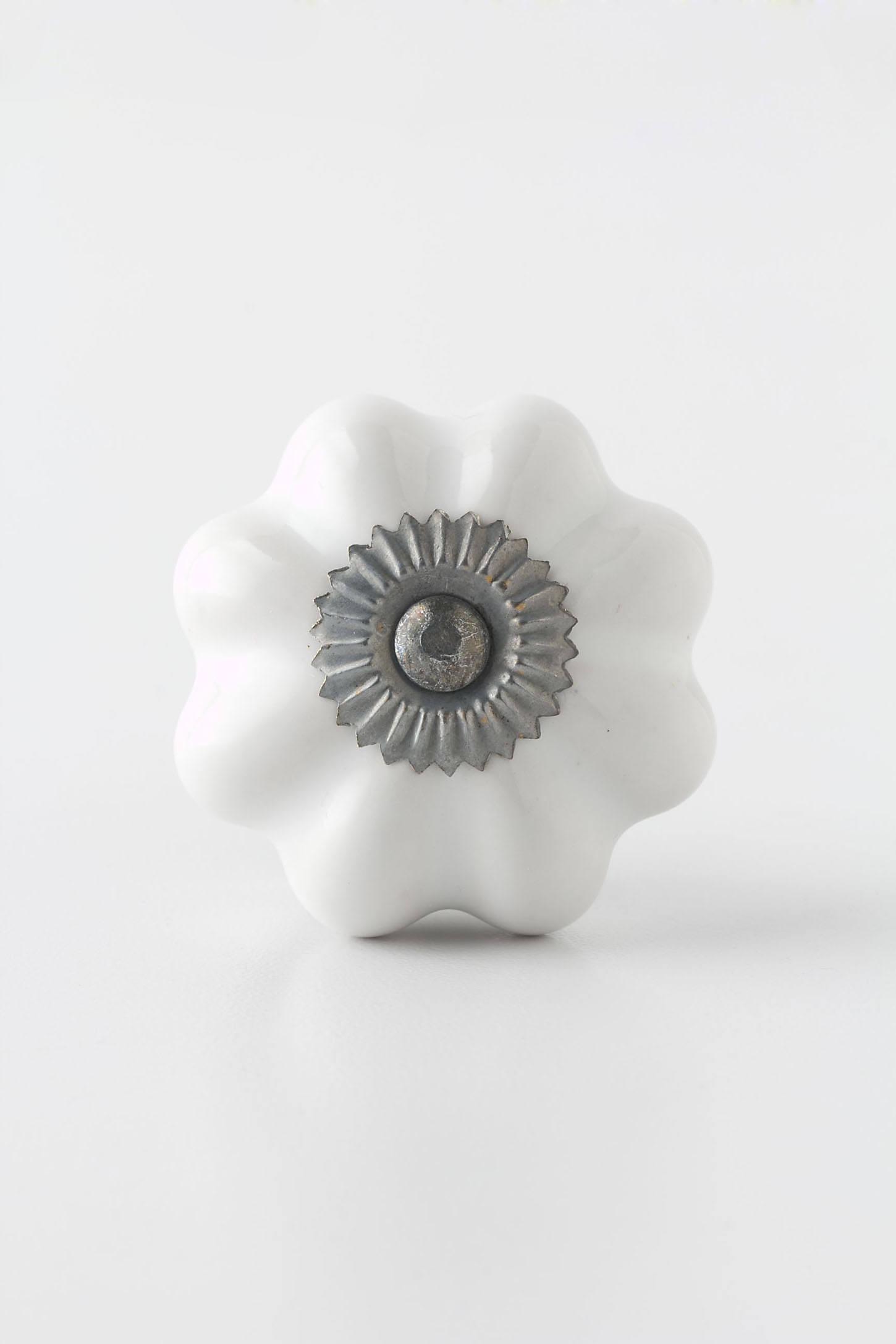Ceramic Melon Knob, Zinc